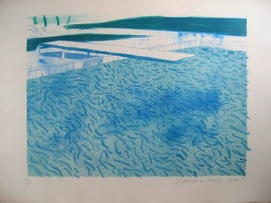 Bleu Piscine - D.HOCKNEY