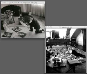 André Malraux travaillant au Musée imaginaire