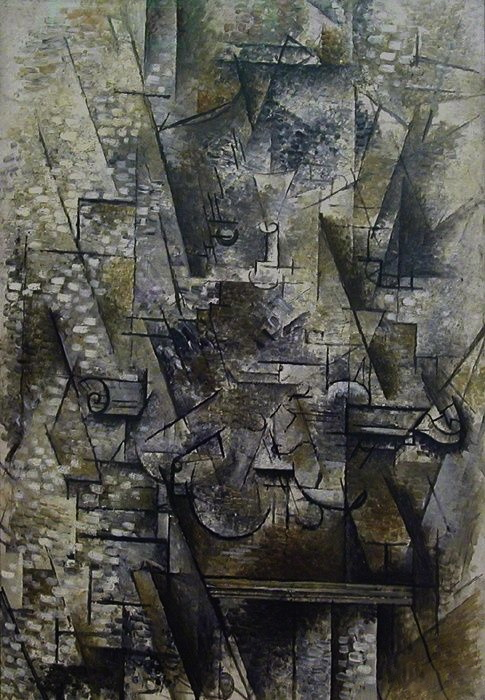 nature morte au violon-1911-Georges Braque